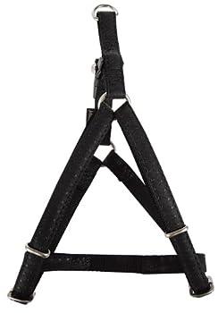 Zolux Mac Leather Harnais Réglable pour Chien Noir 10 mm