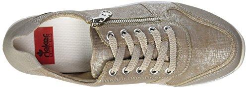Rieker N4020, Sneakers Basses Femme Gris (Vapor/perle-Silber/fango-silver / 40)