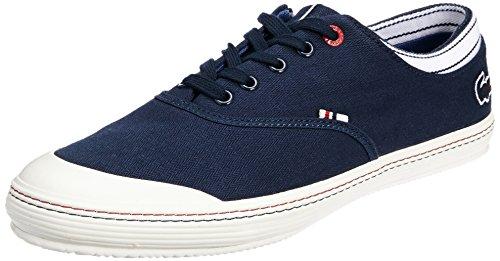 Lacoste Schuhe klassischer Sneaker Manville Tennis Turnschuhe Freizeitschuhe Dunkelblau, Größenauswahl:42