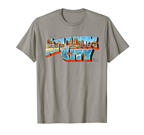 Atlantic City New Jersey NJ Vintage Retro Souvenir T-Shirt - Retro Souvenir-jersey-t-shirt