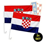 TK Gruppe Timo Klingler XXL Fanset Fanartikel Kroatien 2X Kroatien Autofahne Autoflagge Kroatienflagge Fahne Flagge 1x Spielplan Din A3 Fußball Weltmeisterschaft WM 2018