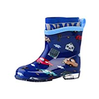 Tookang Unisex Toddler Kids Waterproof Rain Shoes Lightweight Rain Boots