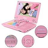 "ZESTYI ZESTYI 9"" Portable DVD Player for Kids with Car Headrest Mount Holder"