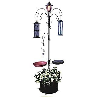 Elito Outdoor Garden Stylish 3 tier Flower Planter Stand, Cascade, solar power Flower stand New (Solar Bird Feeder)