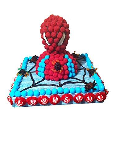 Tarta Spiderman de chuches y golosinas para cumpleaños ---- Una manera divertida y original de regalar golosinas de calidad, tiernas y jugosas para un día especial ----- Tarta de cumpleaños, comunión, de chuches para niña, elaborada de forma artesana...