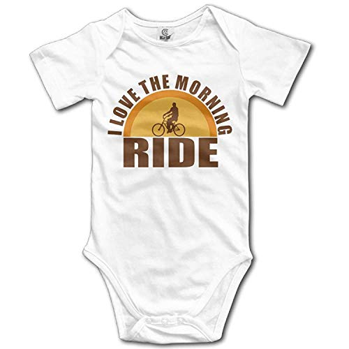 Climbing Clothes Set I Love The Morning Ride Bodysuits Romper Short Sleeved Light Onesies for 0-24 Months ()