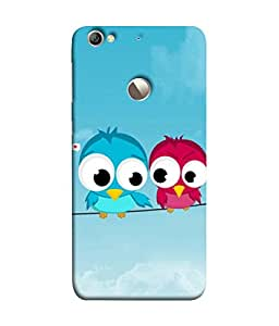 PrintVisa Designer Back Case Cover for LeEco Le 1s :: LeEco Le 1s Eco :: LeTV 1S (Cute Birds With Popping Eyes)