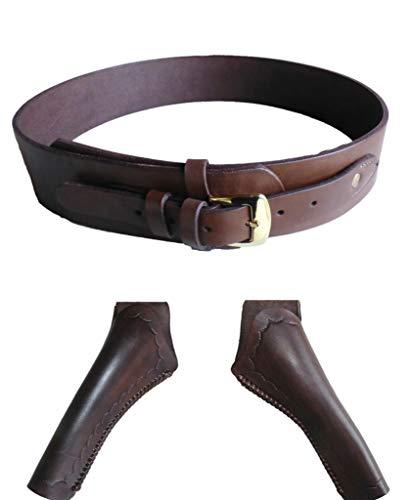 ertaschen Westernholster Oldstyle Rindleder braun (38 inch, Gürtel+Rechte Tasche) ()