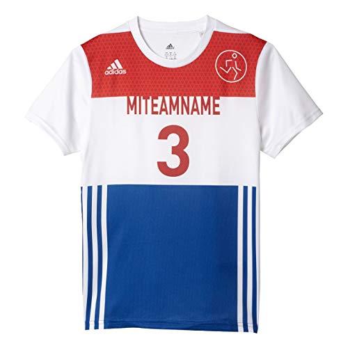adidas Kinder Miozweego T-Shirt, White/Croyal/Powred, 116 Preisvergleich