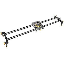 Neewer 31,5 Zoll Kohlefaser-Faser-Kameraspurschieber Video-Stabilisator-Schiene mit 6 Wälzlagern für DSLR DV-Videokamerarecorder-Film-Fotografie Laden Sie bis zu 17,5 lbs/8 kg auf