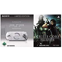 PlayStation Portable - PSP Konsole Slim & Lite, Ice Silver + Crisis Core: Final Fantasy VII