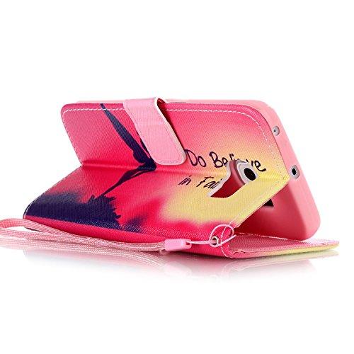 Meet de Samsung Galaxy S6 Edge Bookstyle Étui Housse étui coque Case Cover smart flip cuir Case à rabat pour Galaxy S6 Edge Coque de protection Portefeuille - this iphone is locked slide to unloke I Do Believe in Fairies