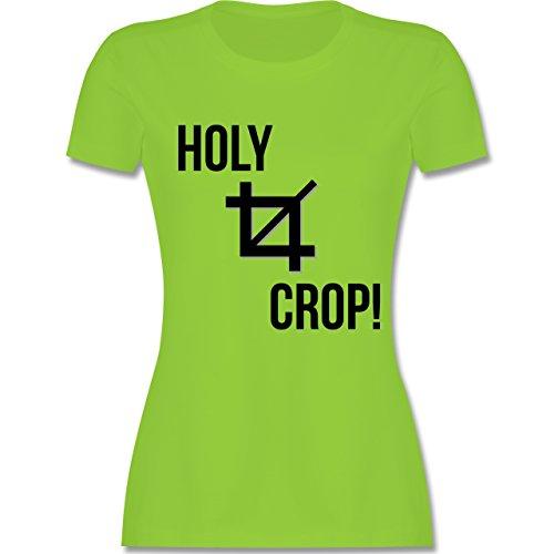 Shirtracer Designer - Holy Crop - Damen T-Shirt Rundhals Hellgrün