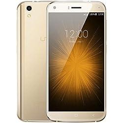 UMI London Android 6.0 3G Smartphone antiurto protezione in vetro a doppia con anima Struttura in metallo 1,3 GHz quad 8GB 8MP - oro