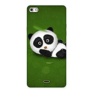 Stylish Panda Green Grass Back Case Cover for Micromax Canvas Silver 5