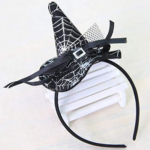Heaviesk Weihnachten Hexe Kopf Schnalle Halloween Requisiten Bunte Hexe Hut Stirnband Mode Kostüm Dress up Zubehör für Party