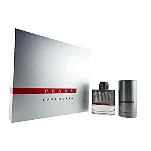 Prada Luna Rossa Set 50ml EDT Eau de Toilette Spray + 75ml Deodorant Stick