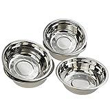 Gitany - Juego de 6 cuencos de acero inoxidable para mezclar ensaladas, cuencos de metal