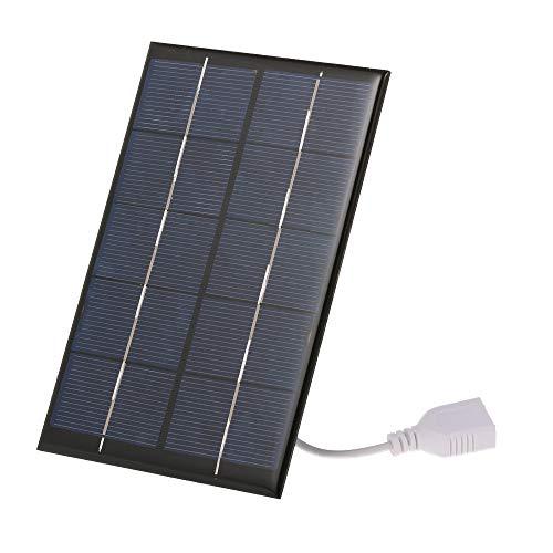 Galapara Tragbares Solarmodul,2.5W / 5V Solar-Ladegerät mit USB-Anschluss monokristallines Silikon kompaktes Solarpanel-Telefon-Mobiltelefon-Energienbank-Ladegerät für kampierendes Wandern