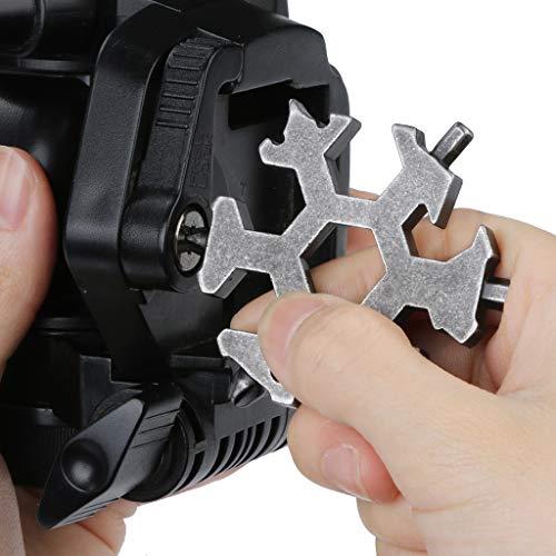 TAOtTAO 6 Schneeflocke-Multifunktions-Gadget Multi-Tool-Kombination kleine tragbare Outdoor-Schneeflocke Schlüsselring Snow Keychain Tools Schneeflocke Form Schlüssel Schlüsselbund Multifunkti (S)
