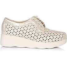 PITILLOS 5590 Zapato Cordon Plataforma Mujer