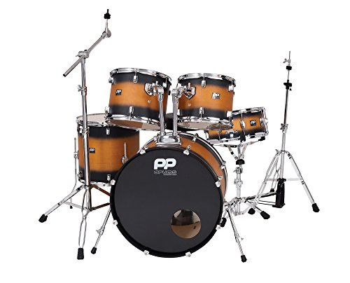 perfromance-percussion-pp400bb-limited-edition-velvet-finish-full-size-drum-kit-black-5-piece