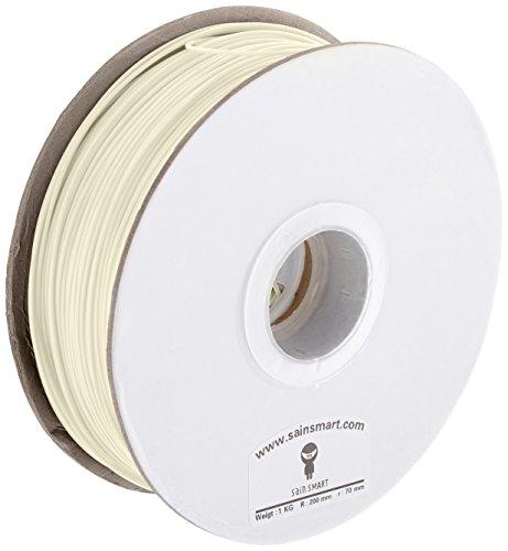 SainSmart Filament ABS pour imprimante 3D RepRap, MakerBot Replicator 2, Afinia, SOLI Doodle 2, Printrbot LC, Mendel, M2et Up. (Afinia MakerGear H de Series), diamètre 1,75mm, capacité 1kg Diamètre, naturel