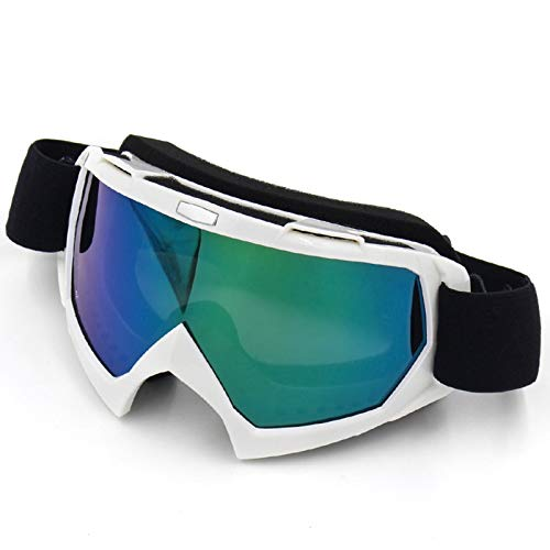 Aienid Radbrille Polarisiert Bright Weiß Color Skibrille Winddichter Augenschutz Size:18.6X10.2CM