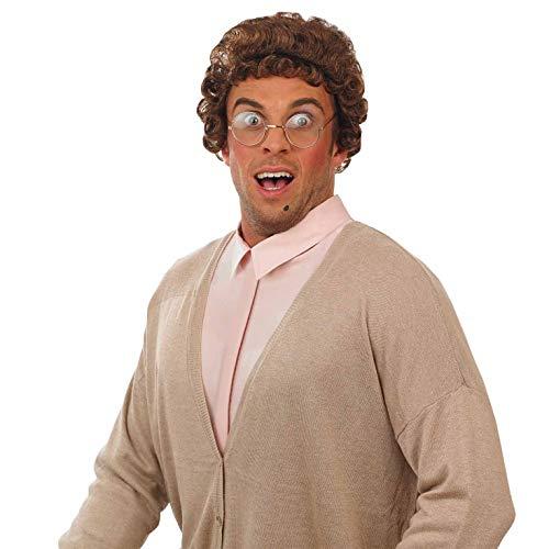 Agnes Kostüm Perücke - Fun Shack Herren Costume Kostüm, Granny Wig Brown, Einheitsgröße