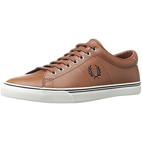 Fred Perry Underspin Leather Hombre Zapatillas Tostado