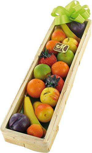 Marzipan Früchte Geschenkkorb in Spankistchen