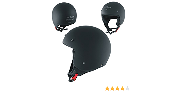 Motorradhelm Quad Roller Offenes Jet Helm Custom Ece 22 05 Polierten Schwarz Matt Xl Auto