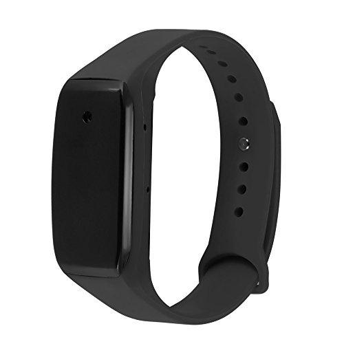 Eoqo® 1080P Full HD Wölbungs-Armband-Spion-Kamera - Stützvideoaufzeichnung und nur Audioaufnahme - justierbare Wristband Art + 8GB Mikro-Sd-Karte