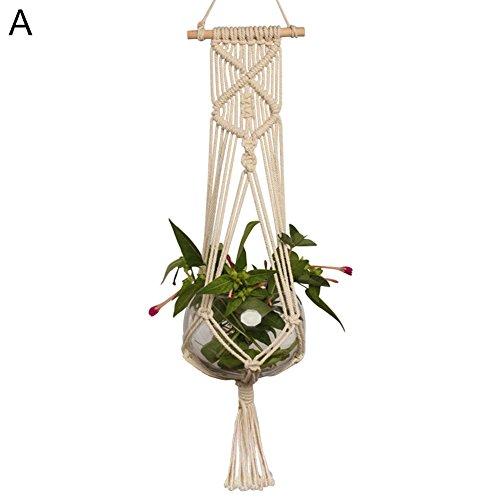 Steellwingsf appeso presina pianta fioriera cestino gancio cotone corda macramè intrecciato artigianale