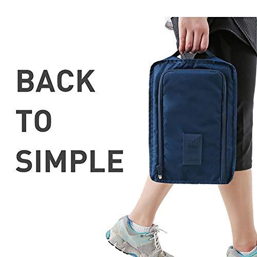 Comaie Kofferraum-Organizer, faltbar, Aufbewahrungsbox, faltbar, Einkaufstasche, Körbe, Schuhe, multifunktional, wasserdicht und faltbar, langlebig, Sporttasche, Reisetasche für Schuhe Purplish Blue -
