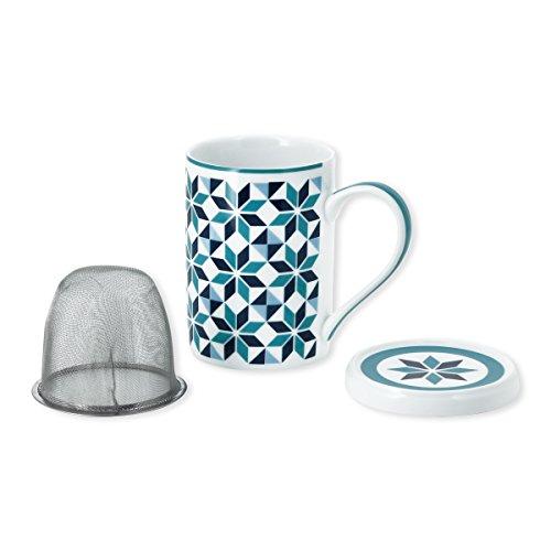 Bruno Evrard Tisanière motifs géométriques en porcelaine 25cl - TIAGO