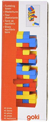 Goki - Torre de equilibrio de madera, 45 piezas (Gollnest & Kiesel KG