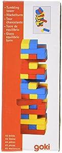 Goki - Torre de equilibrio de madera, 45 piezas (Gollnest & Kiesel KG G1005/973)