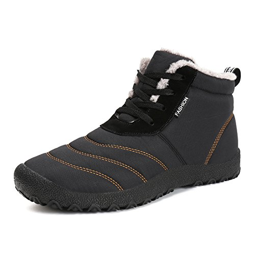 ed4cc87eff8e3 Voovix Chaussures d hiver Fourrees pour Hommes Femmes Bottes de Neige  Imperméables Bottes d