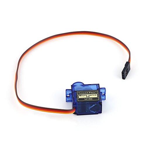 Preisvergleich Produktbild LUFA New SG90 Mini Getriebe Micro Servo für RC Auto-Boot Hubschrauber-Flugzeug-Trex 450 blau&23mm x 12mm x 29mm