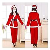 SDLRYF Weihnachtsmann Kostüm Weihnachten Kostüm Festival Nach Santa Claus Kostüm Jahreshauptversammlung Weihnachtsfeier Bühne Kleid