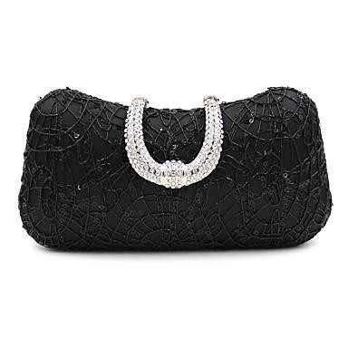 WZW Donna Poliestere Formale Casual Serata/evento Matrimonio Ufficio e lavoro Borsa da sera . silver black