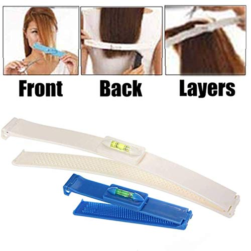 Funmazit Professional Salon Clipper Trimmer Thinning Haircutting Hairstyling Tool Kit DIY Haarschneide Hilfe Clip Haarschneidewerkzeug Kamm Werkzeug Pony Frisur Fransen Haircutting Werkzeug(Blau) -