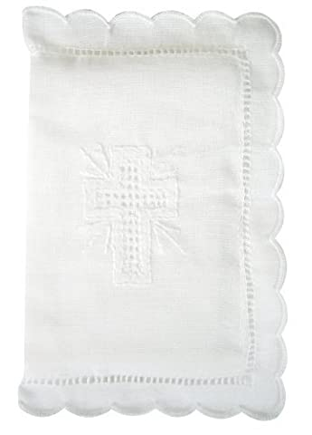 Stephan Baby Keepsake Bible with Embroidered Cover and Scalloped Edge, White by Stephan Baby (English Manual)