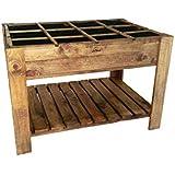 La Noria Mesa de Cultivo huerto Urbano 80x120x80 cm. Montaje Muy fácil y rápido.