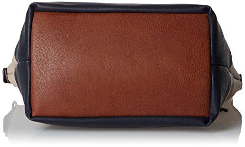 Tom Tailor  Acc 21021, Borsa a Spalla Donna Multicolore (Beige/Blu)