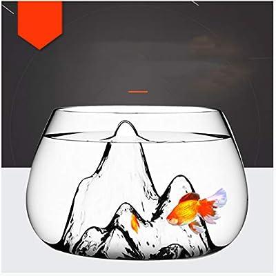 Yshen Aquariummini Kreative Transparente Fish Bowl Aquarium Ökologische Gold Fish Bowl