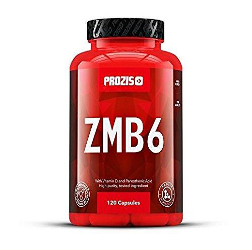 Prozis zmb6 120 capsule - zinco, magnesio & b6 - formula di vitamine e minerali essenziale per atleti - promuove il sistema immunitario - 40 dosi