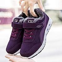 Casual Calzado Deportivo De Mediana Edad De Invierno, Además De Zapatos Viejos De Terciopelo Cálido, Zapatos De Algodón De La Madre,púrpura,42