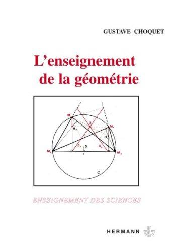 L'enseignement de la géométrie. Premier cycle, CAPES